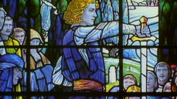 King Arthur pulled Excalibur out of the stone, gathered knights at the Round Table, and was trained by Merlin the Magician, inspiring art and politics from medieval times to the age of Kennedy.Read more about King Arthur.