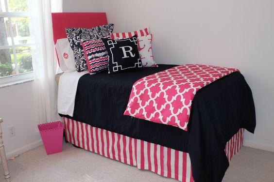 Decorating Ideas > Nautical Navy Quatrefoil Designer Teen Girl & Dorm Room  ~ 053605_Nautical Dorm Room Ideas