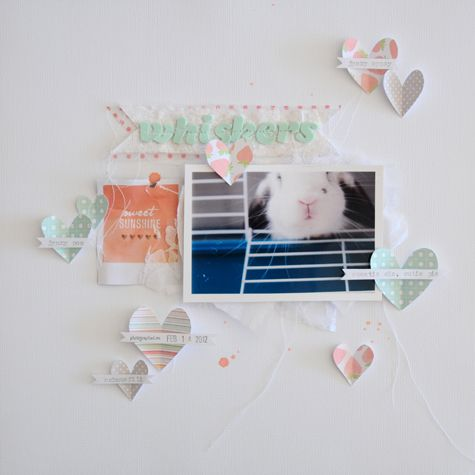 Whiskers - by Rahel Menig using Dear Lizzy Neapolitan from American Crafts.