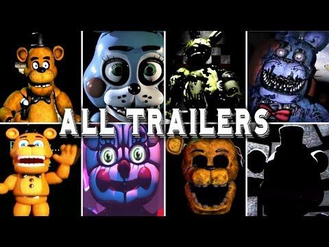 Five Nights At Freddy S Vr 1 2 3 4 5 6 7 All Trailers Help Wanted Youtube Five Nights At Freddy S Five Night Freddy