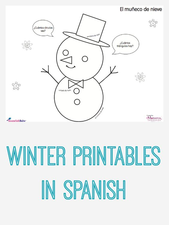 Winter Activity Sheets in Spanish {Printable} | Bilingual ...