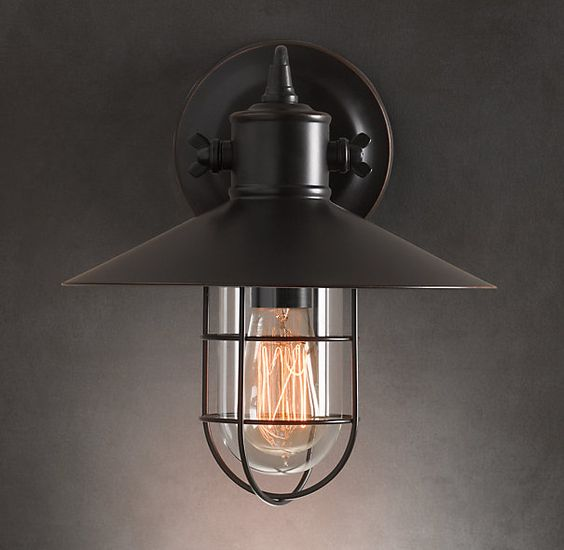 Wall Sconce Lighting Images : Sconces, Restoration hardware lighting and Restoration hardware on Pinterest