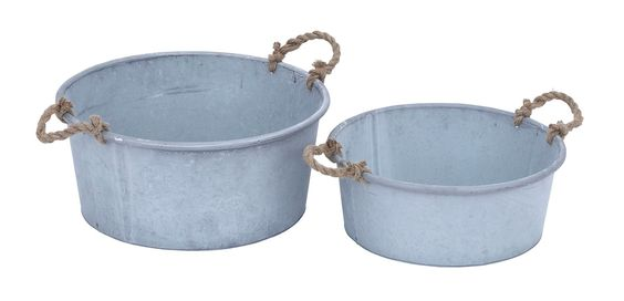 Planter in Flaunt Patina Finish & Rustic Charm - Set of 2
