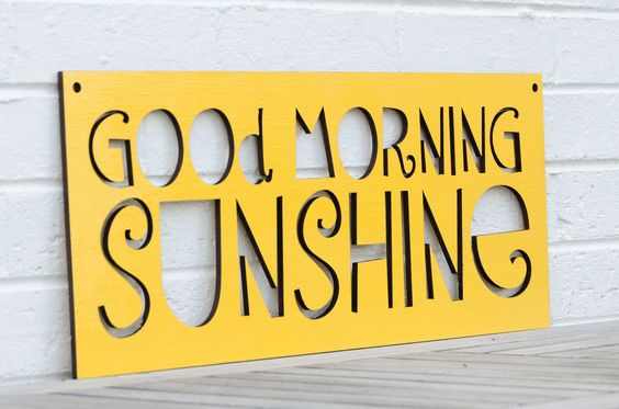 Good Morning Sunshine. $52.00, via Etsy. Cute!!