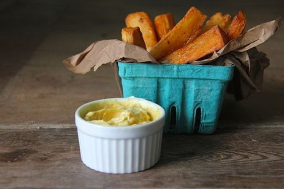 5 party recipes- including Cassava Fries With Curry Mayonnaise...