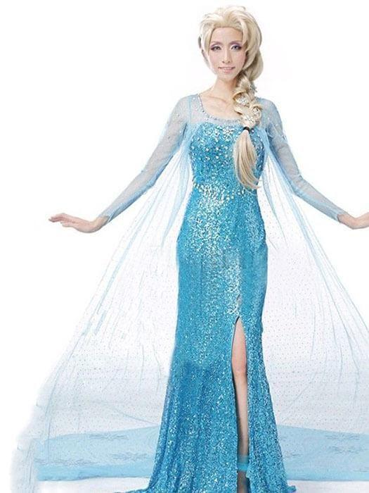 Best Frozen Adult Princess Elsa Dress50%OFF+FREE SHIPPING