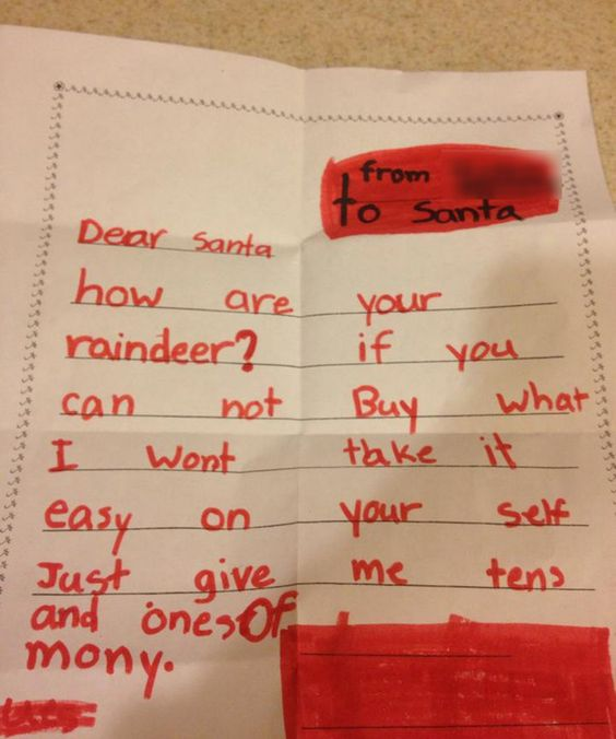 The 21 Funniest Letters To Santa Ever #funny #letters #santa #christmas #holidays #notes #note #kid #kids #humor #comedy #hilarious