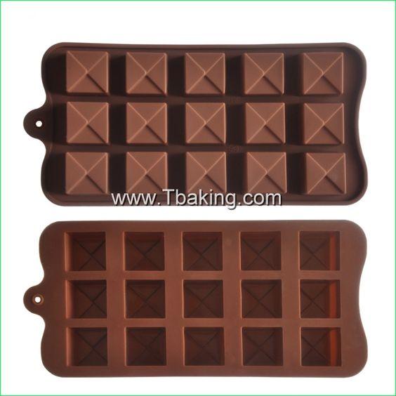 Encontre mais Forma de bolo Informações sobre tc silicone quadrado bolo moldes moldes do chocolate geléia de gelo molde bakeware cookie ferramenta 3253#, de alta qualidade Forma de bolo de Cake Tools Supplier em Aliexpress.com