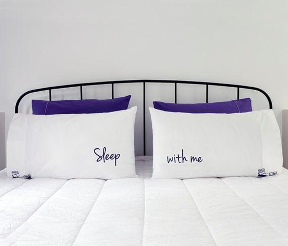 Persuasive pillow cases.