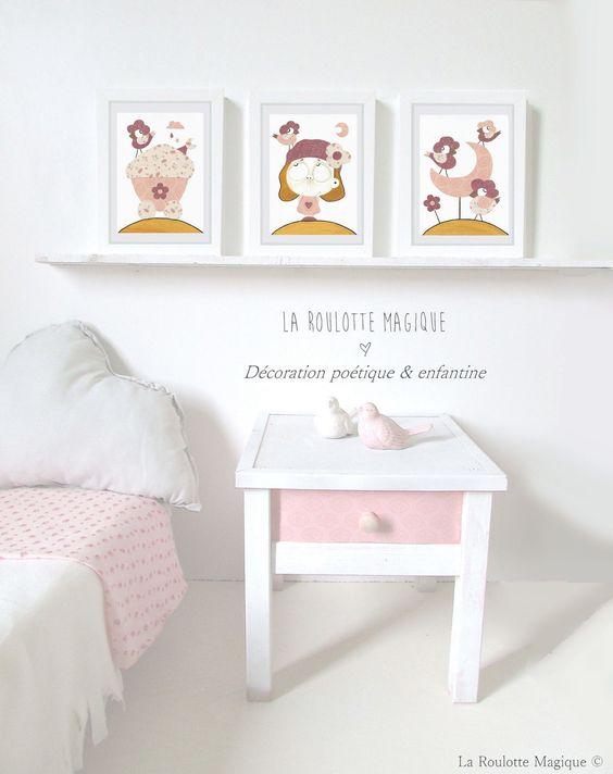 Lot de 3 Affiches pour enfant by La Roulotte Magique