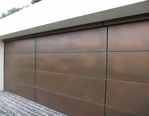 metal pannel garage door contemporary   Sectional overhead garage doors from Graham Day Doors with Axolotl ...