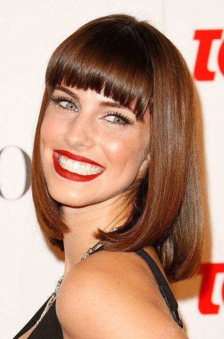 Admirable Blunt Bangs Long Bobs And Bangs On Pinterest Short Hairstyles Gunalazisus
