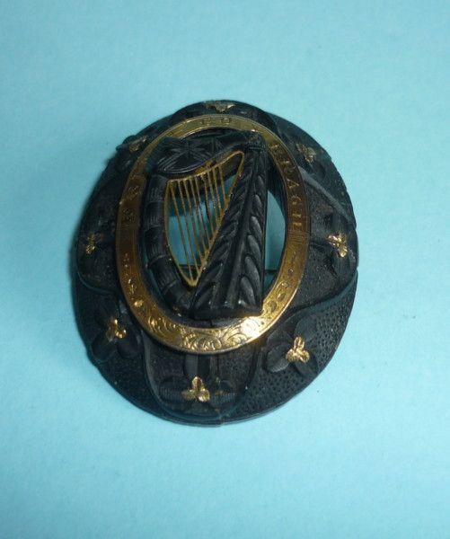 Irish Bog Oak Brooch (Ireland) c1860 britain