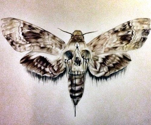 Sei Leise Schwarze Und Graue Tattoos Death Moth Tattoo Tattoo Vorlagen
