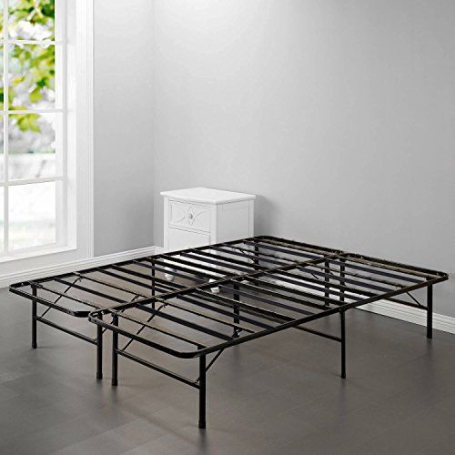Bed Frame Platform Folding Bed Frame Queen Metal Mattress