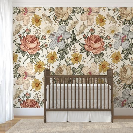 We Always Recommend Purchasing A Sample Prior To Placing Full Order This Ensures You Love Girls Room Wallpaper Floral Wallpaper Bedroom Wallpaper Accent Wall