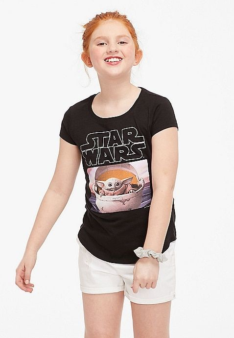 Star Wars Baby Yoda Graphic Girls Tee Justice Girls Fashion Tops Girls Outfits Tween Justice Clothing