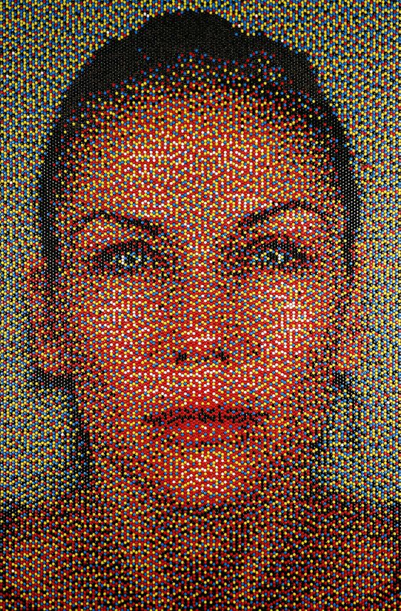 'pushpin portraits' by eric daigh.