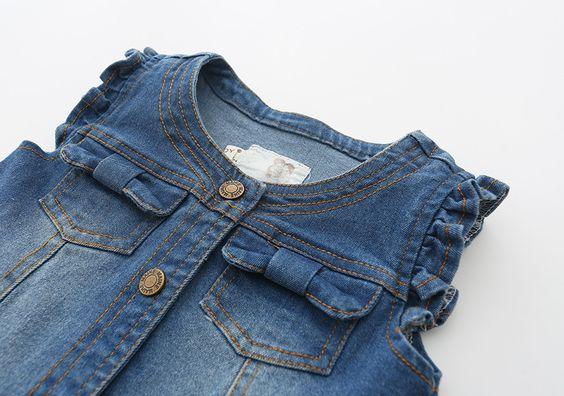 Aliexpress.com: Comprar Nuevo 2016 Otoño del Resorte de los Bebés chaleco de Mezclilla para niños pantalones vaqueros chaquetas niños O cuello Del chaleco infantil niñas chaleco de chaleco de la correa fiable proveedores en Isabeli's Wardrobe