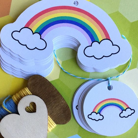 New rainbow tags now available in the shop. Ready to brighten up someone's day!