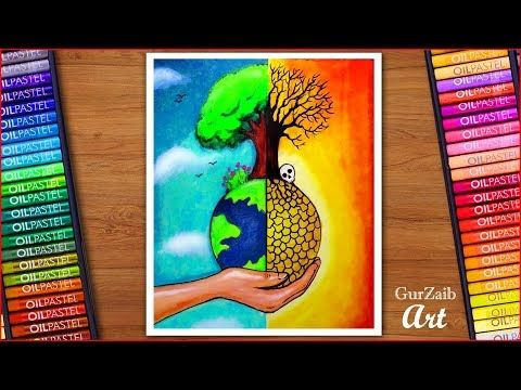 How To Draw Save Trees Save Earth Poster Chart Drawing For School Students Very Easy Step By Step Yout Earth Drawings Save Earth Drawing Save Earth Posters