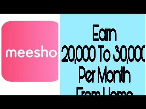 Earn 💰 ( 25k to 30k) Money Without Investment || Home base job **Meesho**  | Online Business Idea | - YouTube | Investing, Home based jobs, Online  earning