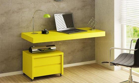 Conjunto para Home Office Bely Amarelo - Uvim