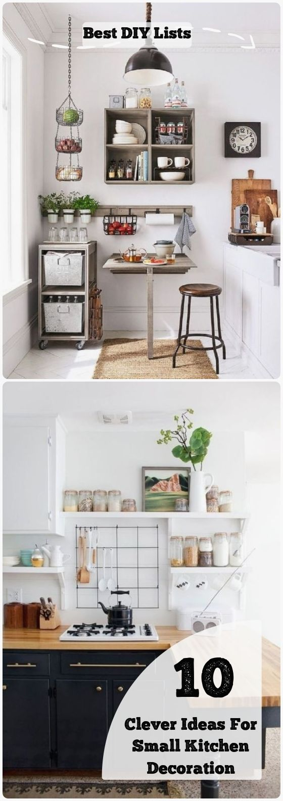 10 Clever Ideas For Small Kitchen Decoration Best Diy Lists Cheap Kitchen Decor Small Kitchen Decor Cheap Apartment Decorating