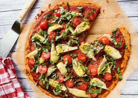 Pizza de camote