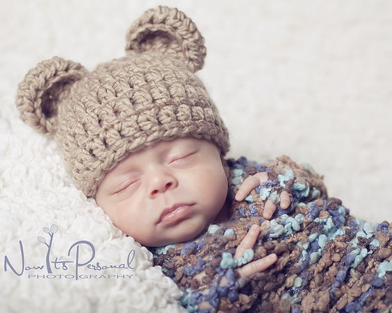 Crochet Pattern Baby Hat Bulky Yarn : I love, Crochet patterns baby and Crochet bear hat on ...