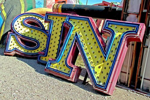Neon Sign museum in Vegas: