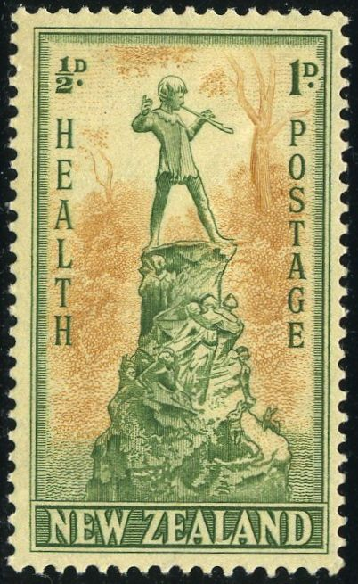 Rey George VI sellos: Nueva Zelanda 1945 (1 de octubre) sellos Salud SG 665/666