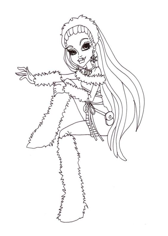 Abbey bominable monster high coloring page monster high for Monster high abbey coloring pages