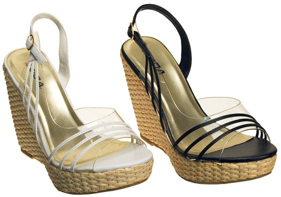 Black,White,New Women fashion straw woven Espadrille platform wedge sandals,RIO