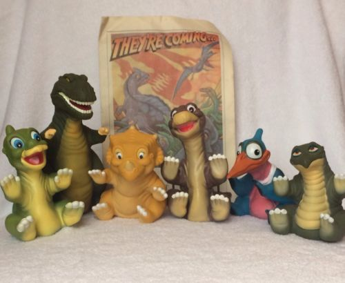 Vintage Land Before Time Hand Puppets Set dinosaur little foot ducky ...