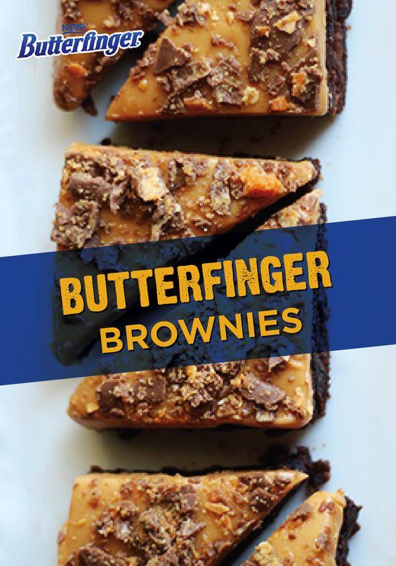 Butterfinger Brownies | Recipe