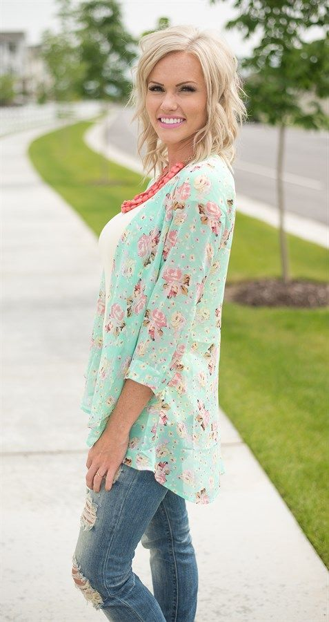 Love this look - with the Floral  Cardigan | only $18.99 on Jane.com in sizes XS-3XL