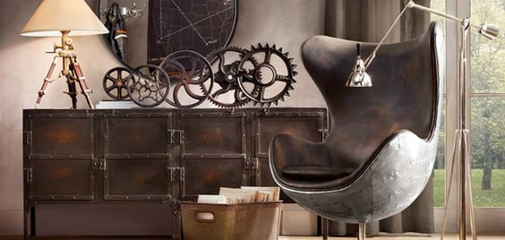 Steam punk google and offices on pinterest Steampunk interior