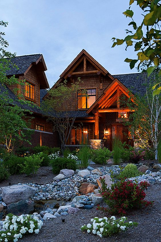 Northville lodge cedar homes style and cottage floor plans for Custom luxury log homes