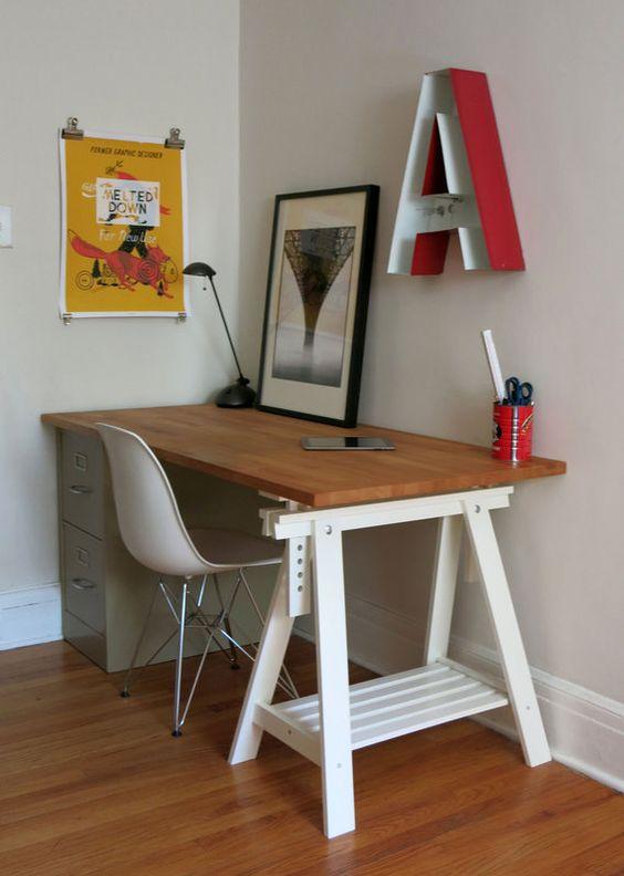 Best Butcher Block Desk Trestle File Cabinet Base Posts 400 x 300
