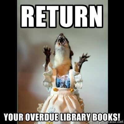 Juanita Weasel - Return your overdue library books!