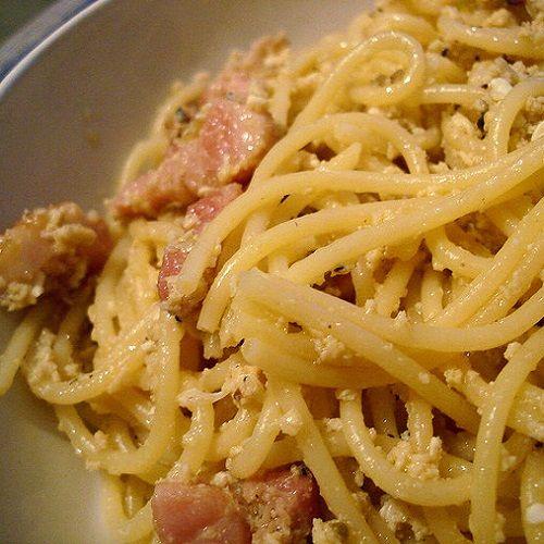 Secret Copycat Restaurant Recipes Olive Garden S Spaghetti Carbonara Restaurant Recipe Food