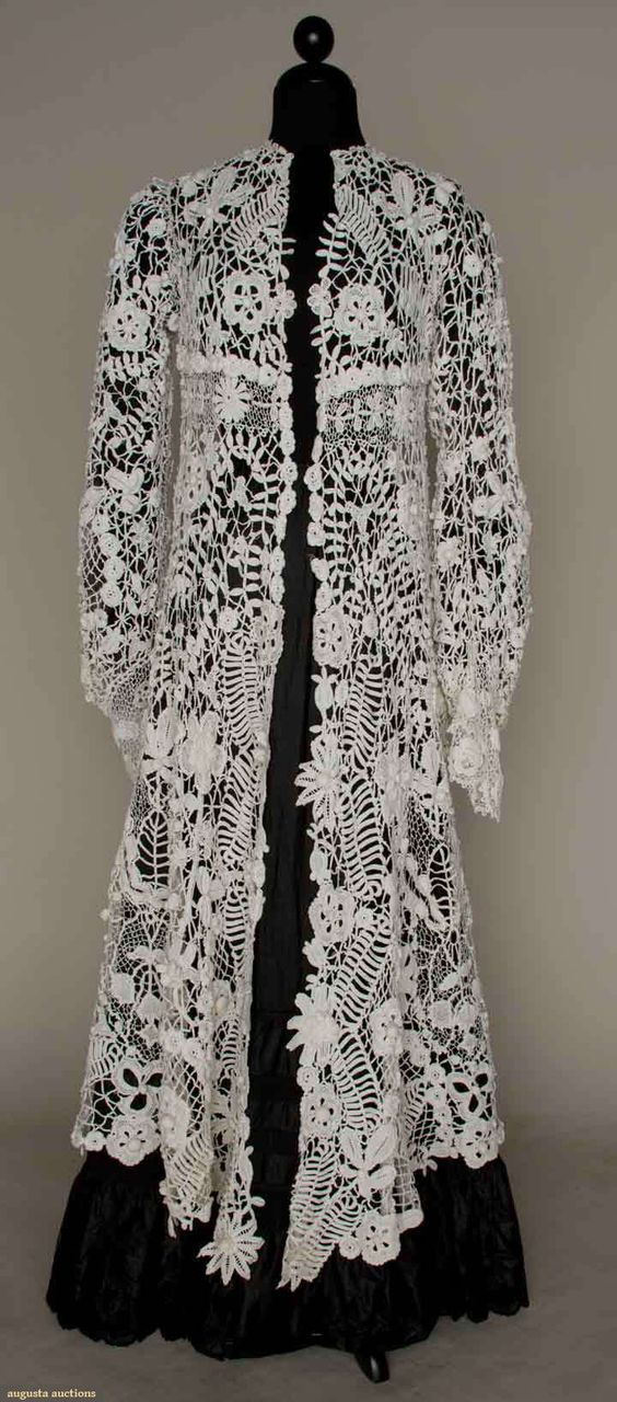 IRISH CROCHET EDWARDIAN COAT, 1905