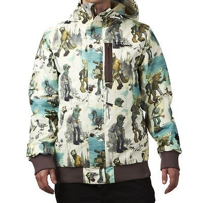 Westbeach #men's #pommier print ski/snowboard jacket. various #sizes. style - 4,  View more on the LINK: 	http://www.zeppy.io/product/gb/2/141752429928/