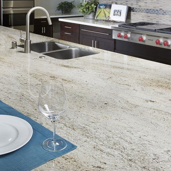 Kashmire cream natural stone granite slab arizona tile for Cream colored granite countertops