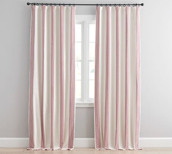Riviera Stripe Blackout Curtain Red Red Curtains Blackout Curtains Curtains