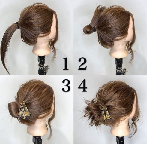 Dinner Hairstyle For Medium Hair Length Easy To Do At Home In 2020 In 2020 Medium Hair Styles Dinner Hairstyles Easy Hairdos