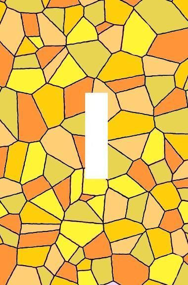 Yellow Orange Stained Glass Abstract light switch plate wall art Home Decor USA #a745