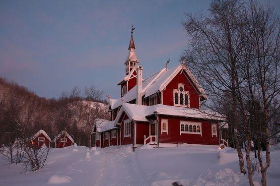 Neiden Chapel in Sør-Varanger, Finnmark county, Norway