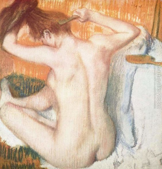 Woman Combing Her Hair Edgar Degas Reproduction | 1st Art Gallery